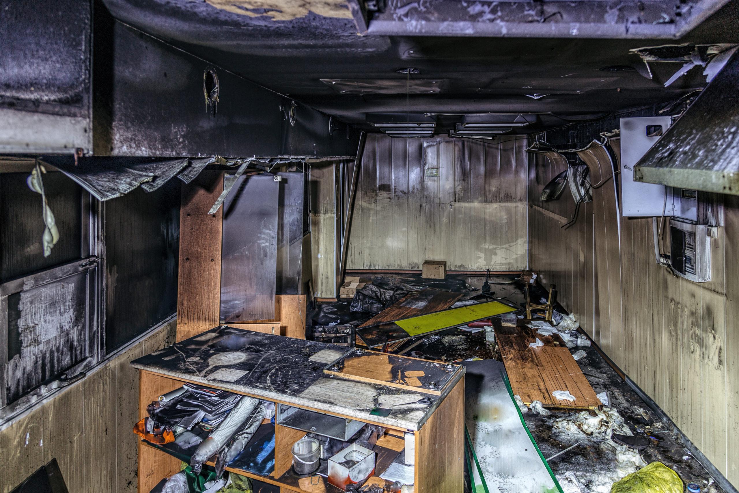 fire damage shop